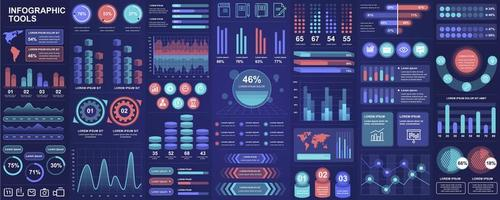 infographie, ui, ux, ensemble d'éléments de kit vecteur