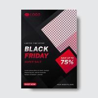 flyer vendredi noir abstrait moderne vecteur