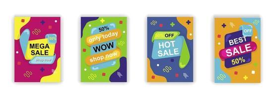 affiche de vente de formes abstraites conception d'histoires de médias sociaux vecteur