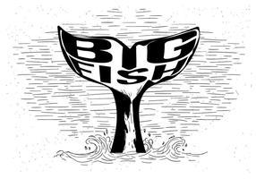 Baleine Illustration de queue vecteur libre