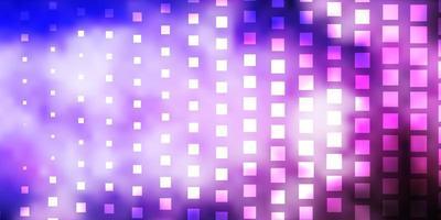 fond violet avec des rectangles.