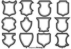 Bouclier Cadres icônes Set. vecteur