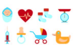 Set de maternité Icônes vecteur