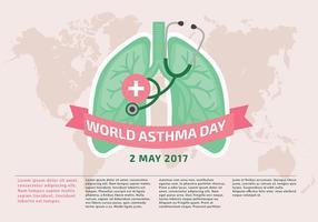 Vecteur Modèle Journée mondiale de l'asthme