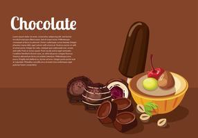 Modèle de chocolat vecteur libre