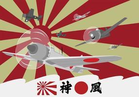 Avions Kamikaze à la Seconde Guerre mondiale vecteur