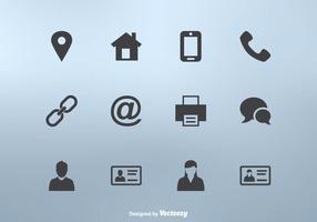 Icône de carte de visite set vector