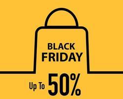 bannière de vente discount minimaliste vendredi noir