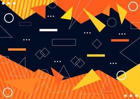 abstrait avec des formes géométriques orange et jaune vecteur