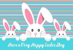 Illustration mignon lapin de Pâques