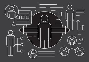 Gestion d'entreprise linéaire et éléments d'entreprise vecteur