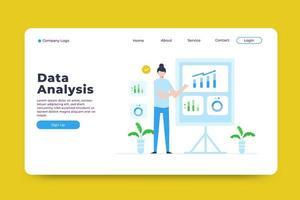 modèle de page de destination d'analyse de données