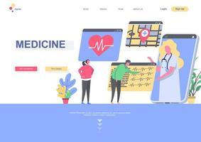 modèle de page de destination de médecine vecteur