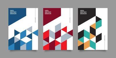 modèles de couverture commerciale abstrait mosaïque angulaire colorée