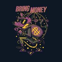 lapin violet apportant un design de tshirt