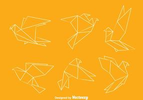 Vecteurs Pigeon Origami vecteur