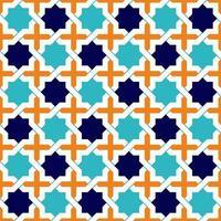 étoiles de motif islamique vecteur