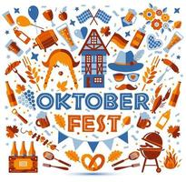 bannière du festival oktoberfest vecteur