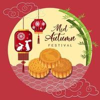 fond de festival chinois de mi automne