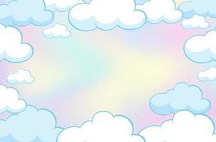 fond de ciel pastel de conte de fées magique