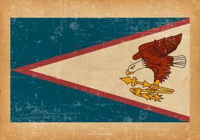 Drapeau américain Samoa sur fond grunge vecteur
