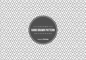 Arrière-plan de la main géométrique mignon Style Dessiné Pattern vecteur