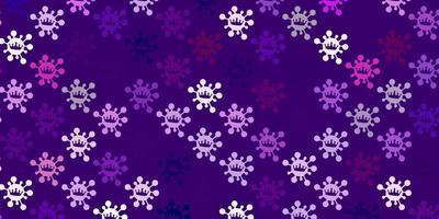 modèle violet avec des signes de grippe.