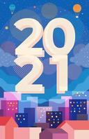 concept de nouvel an 2021 avec un style contemporain minimaliste