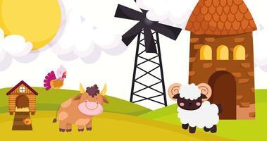animaux mignons dans une ferme