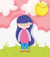 petite fille à l'extérieur