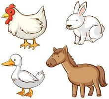 image isolée des animaux de la ferme vecteur