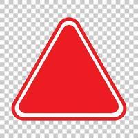 bannière de trafic rouge vide sur fond transparent