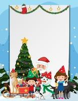 modèle de cadre de Noël vierge