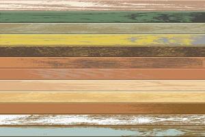 Vintage fond en bois horizontal avec de vieilles couleurs fanées vecteur