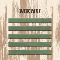 planche de bois menu vintage vecteur