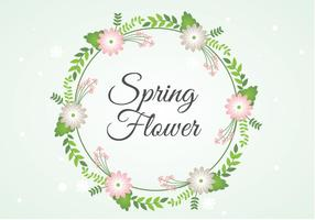 Contexte Fleur de printemps Couronne libre