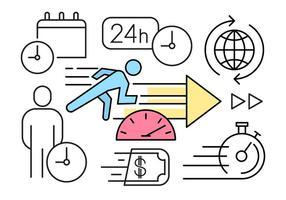 Éléments concurrentiels Vecteur d'affaires linéaire