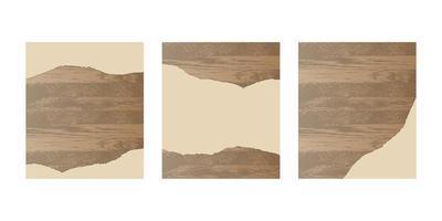 papier déchiré sur planche de bois vecteur