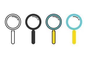 ensemble d'icônes de loupe vecteur