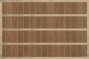 étagères en bois vides réalistes