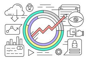 Statistiques d'entreprise linéaire Vector Elements