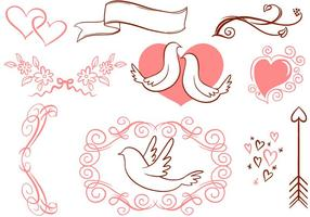 Vecteurs romantiques libres vecteur