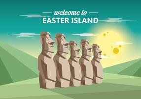Île de Pâques Statue vecteur