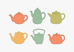 Polkadot Teapot Collection vecteur