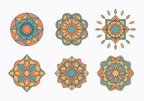 Ensemble islamique Ornements vecteur
