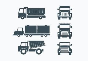 Set Collection Camion vecteur