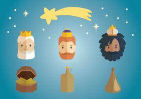 Trois Rois Epiphanie vecteur