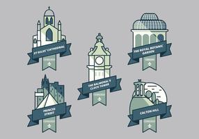 Iconic place à Edinburg vecteur