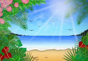 Scène florale de Playa vecteur