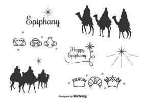 Ensemble de vecteur d'icônes Epiphany